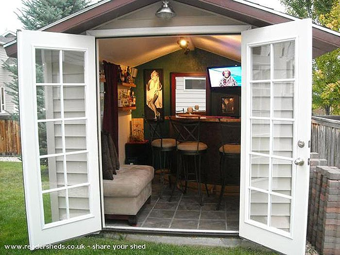 Who Can Resist A Superbowl Party With This Shed