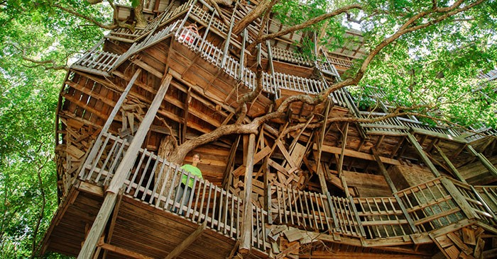 Biggest Treehouse In The World a minister in tennessee built the world's largest treehouse like a