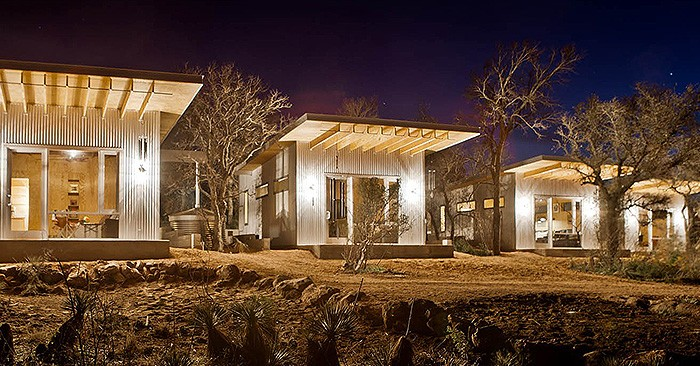 "Welcome To ""Bestie Row"": Lifelong Friends Build Row Of Tiny Houses In The Middle Of Nowhere."