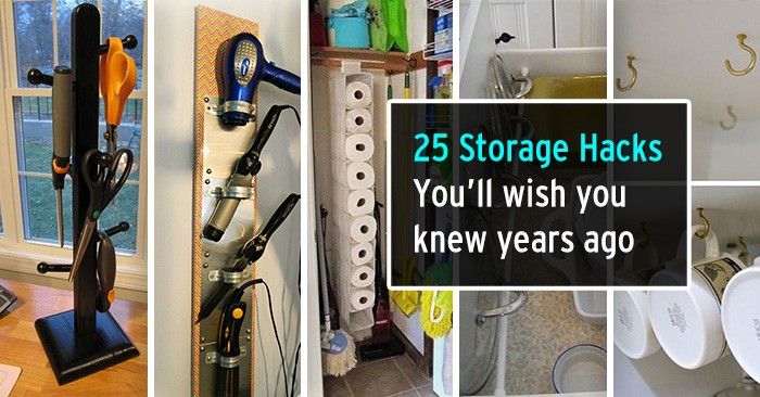 25 Brilliant Storage Hacks That You'll Wish You Learned