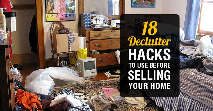 selling your home use these 18 home decluttering hacks before buyers view it. Black Bedroom Furniture Sets. Home Design Ideas