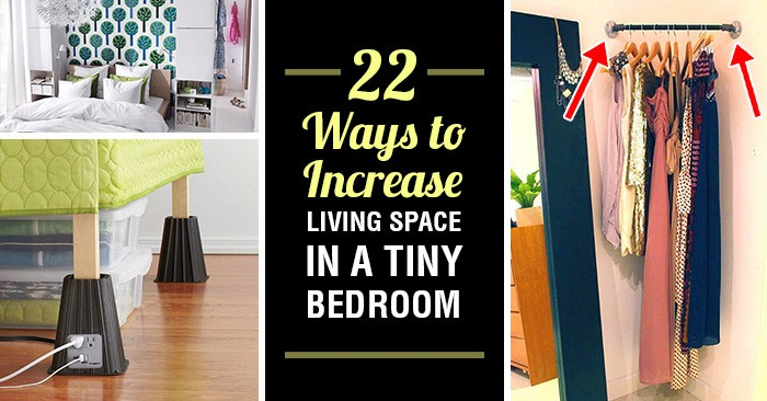 22 Ways To Increase Living Space In A Tiny Bedroom