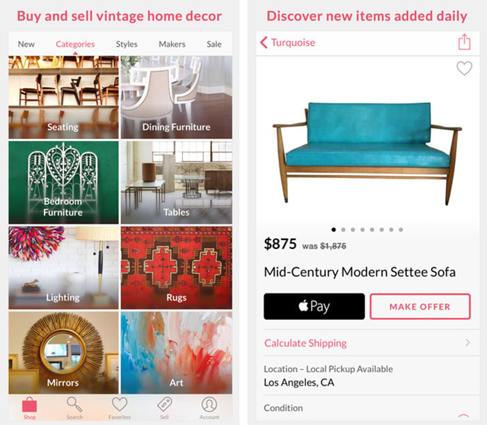 This Free App By Chairish, Inc. Is A Gateway To A Wonderful World Of  Pre Owned Vintage Items. Whether Itu0027s Furniture, Art, Or A Plush Rug, There  Will Be ...
