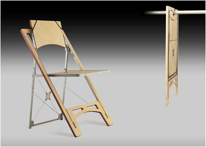 This super flat folding chair is the ultimate in space saving seating.