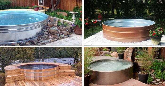 """These Smashing Backyard Ideas Are Hot And Happening: These Trendy """"Stock Tank"""" Pools Are Popping Up In Back"""